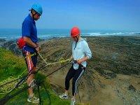 Coastal cliff abseils