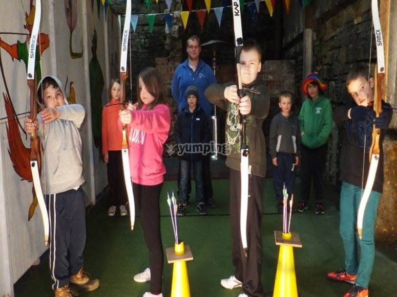 Archery at a birthday party