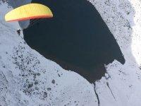 A snowy glide