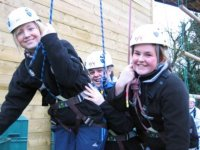 Abseiling smiles