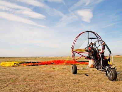 Paramotor flight 30 minutes and video Venturada