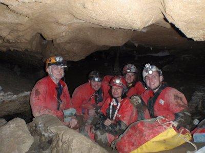 Caving in Mairuelegorreta cove, level 2