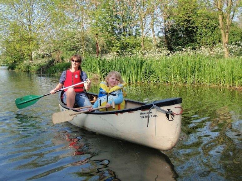 Enjoy the canoe