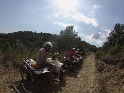 Two-seater quad tour 1h Montnegre Natural Park