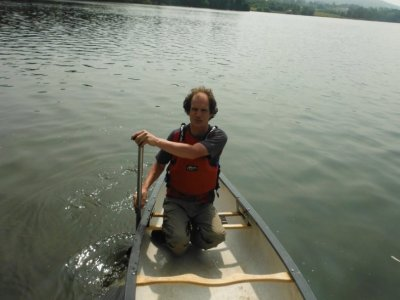 Canoeing on Talkin Tarn for two