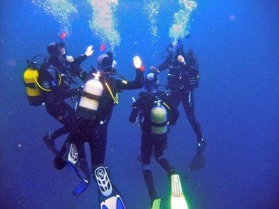 Advenced OWD + Nitrox + free dive in Cadiz