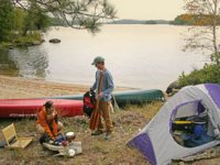 Weekend Canoe Camping in Chelmer river