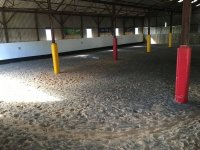 The indoor arena in The Horse Activity Centre