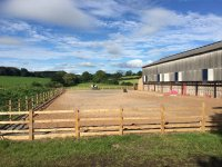 The outdoor arena in The Horse Activity Centre