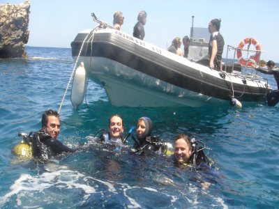 Scuba Diving From Boat in Javea