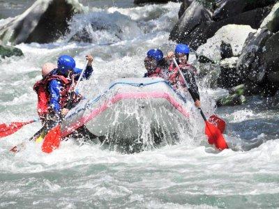 White water rafting in Sella river, kids