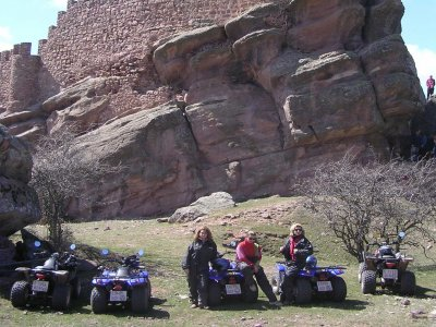 2-seater quad ride,Castillo de Zafra-Caldereros,3h