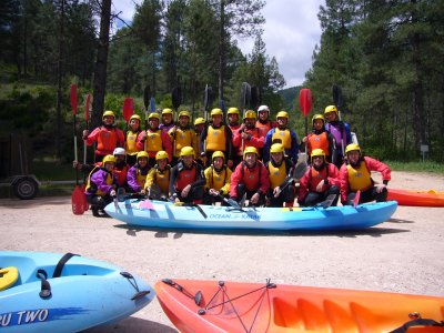 Descent of the Tajo river by canoe with picnic
