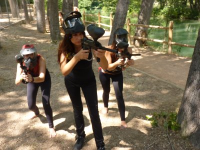 Bachelor/hen party and paintball, Júcar Valley