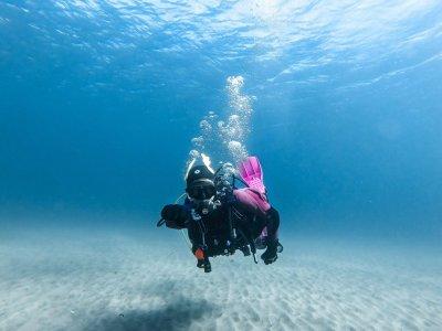 Diving baptism in Cabo de Gata