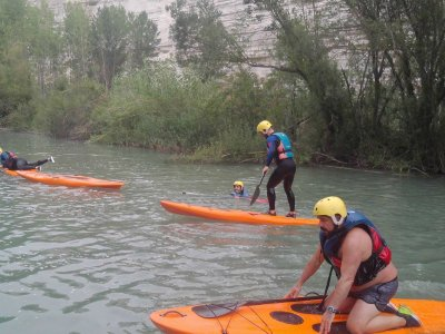 Paddle surf session in the river Júcar, a half day