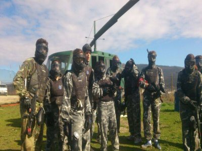 Paintball match with 200 balls in Pamplona