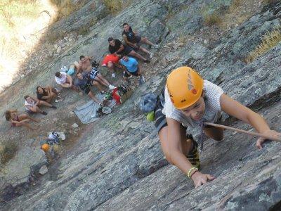 Sport climbing in Béjar mountains