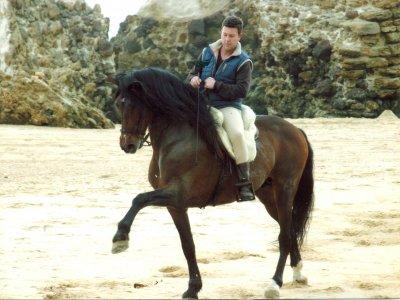 Private horse riding class in Mazagón, 1h.