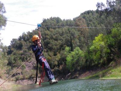 50-metre zipline on Benitandús reservoir