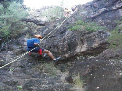 Dry ravine descent, level 1, Sierra Espadán