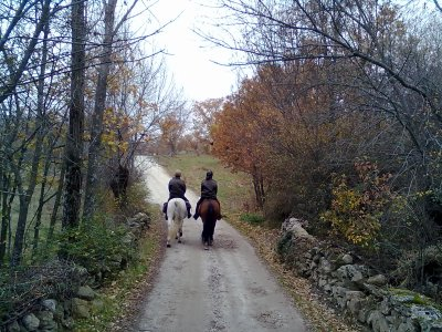 Riding Lesson and Route + Canoeing Lozoya Valley