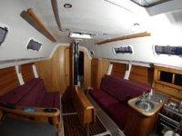 Inside a charter yacht
