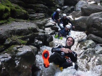 Canyon Level I in Sierra de Guara or Pyrenees