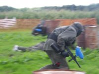 Paintballers in action!