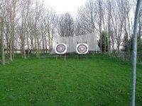 Traditional handmade bullseye targets.