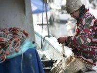 fisherman preparing