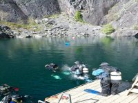 Diving in the quarry can also be done.