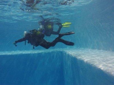 A 10-Meter Diving Baptism in pool Fuenlabrada