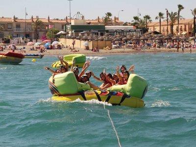 Parasailing + flying raft for 2 in Torremolinos