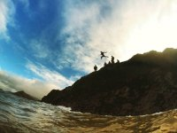 A little leap of faith along the North Devon coastline