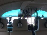 Inside the heli