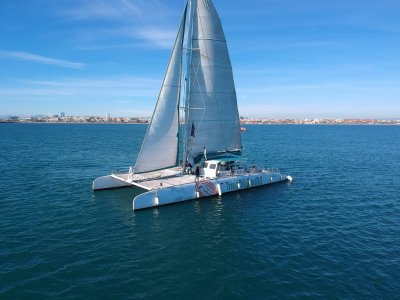 Catamaran cruise, swims and meal from Jávea