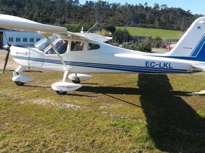 Ultralight plane Baptism in Fervenza Aerodrome