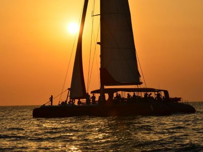 Sunset from catamaran in Denia, ADULTS