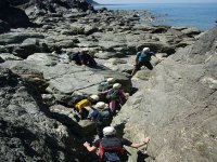 Climbing to the cliffs