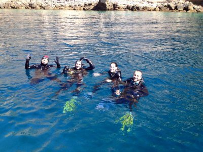 Bachelor/ette party diving wakeboard Aguadulce