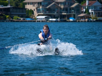 Water skiing session in Torremolinos 10 min