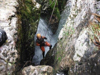 Canyoning in Las Nogaleras, Medium-level.