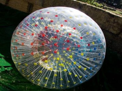 Zorbing + Zipline in Guadarrama Park