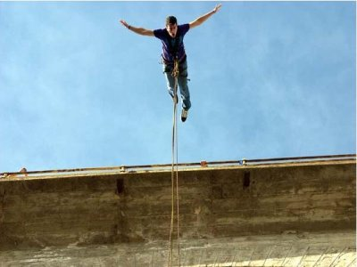 Bungee jumping, Bachelor special, Puente Taobada