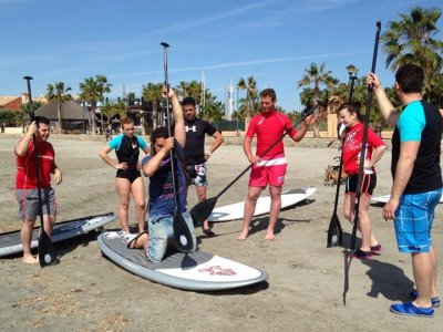 Standup paddle surf induction course Los Narejos