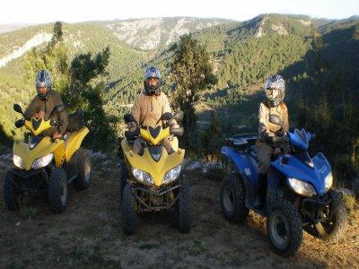 Route on quad + caving, Accomodation, Alto Tajo