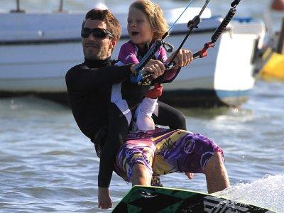 Kitesurfing for children in Los Narejos