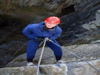 Abseiling steep slopes