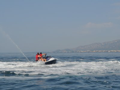 Two-seater jet ski route in Cambrils, 1h